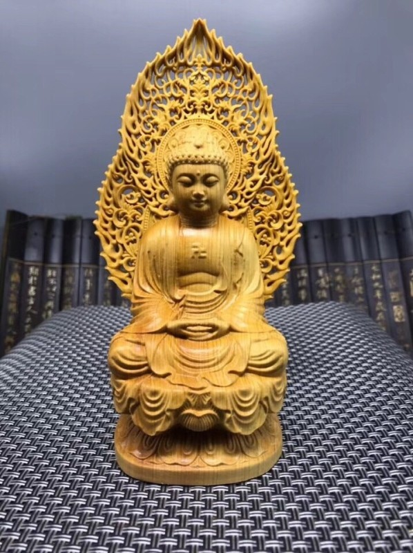 Sitting Buddha Carving